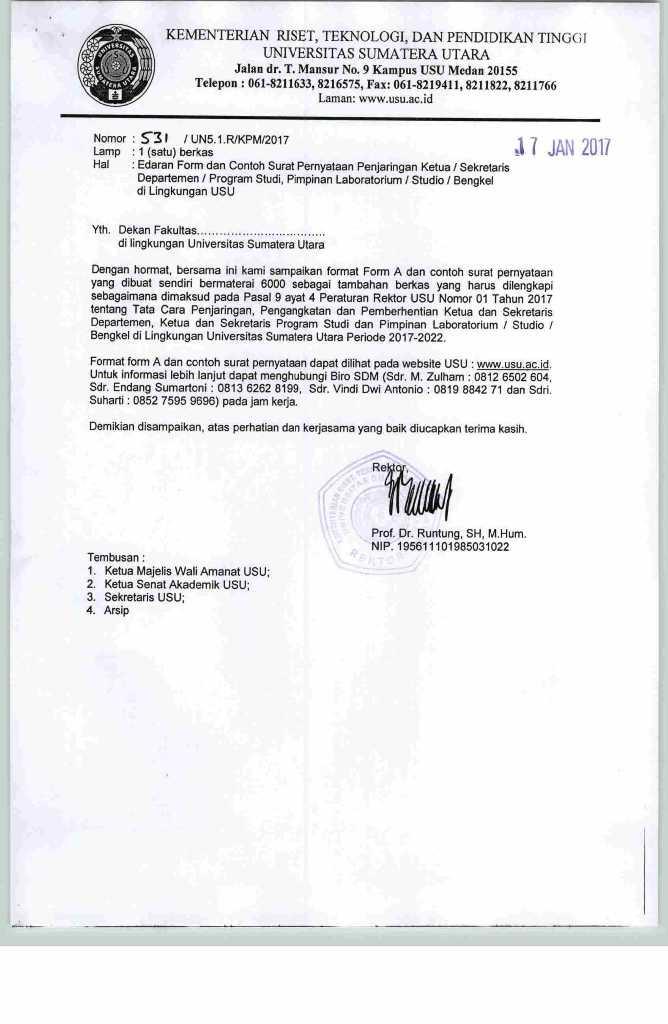 Program Diploma Keuangan Edaran Form Dan Contoh Surat